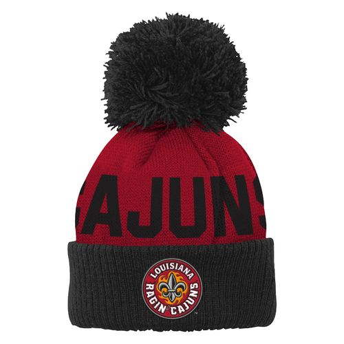 adidas™ Toddlers' University of Louisiana at Lafayette Cuffed Knit Cap with Pom