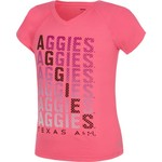 Soffe Girls' Texas A&M University Performance V-neck T-shirt