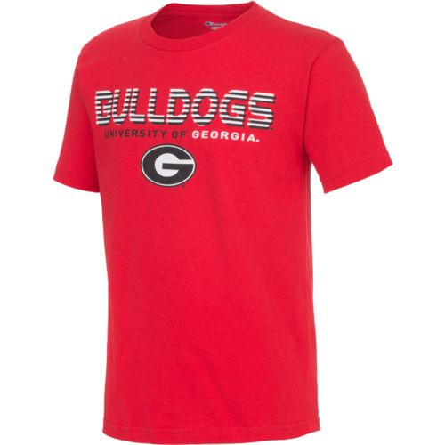 Champion™ Boys' University of Georgia Stripe Wordmark Long Sleeve T-shirt