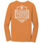 Image One Men's Clemson University Finest Shield Comfort Color Long Sleeve T-shirt