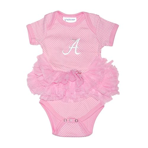Two Feet Ahead Infant Girls' University of Alabama Pin Dot Tutu Creeper - view number 1