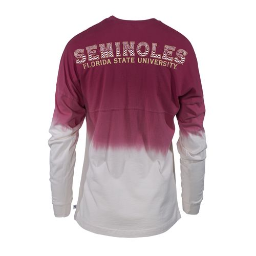 Venley Women's Florida State University Ombré Wash Long Sleeve T-shirt