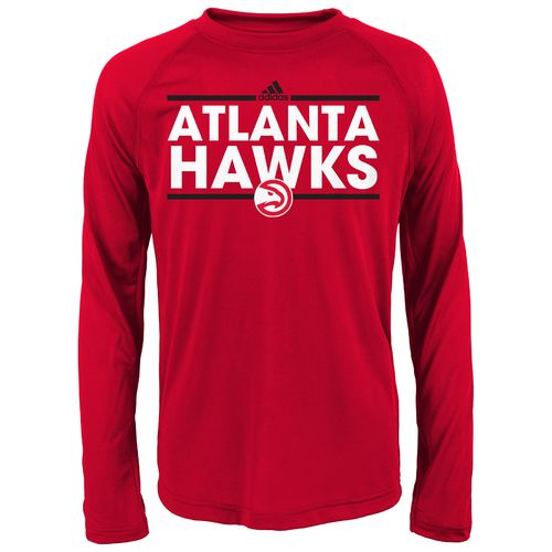 adidas Boys' Atlanta Hawks Dassler Long Sleeve T-shirt