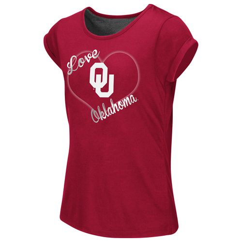 Colosseum Athletics™ Girls' University of Oklahoma Baywatch Split Back T-shirt - view number 1