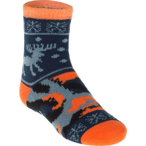 Magellan Outdoors Boys' Lodge Moose Pattern Socks