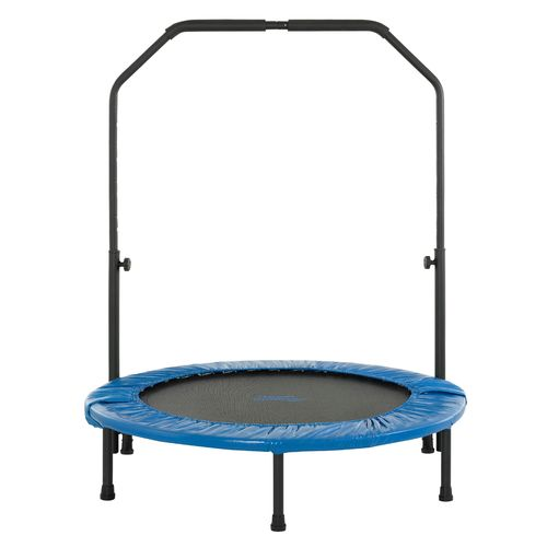 Upper Bounce® 40' Mini Foldable Rebounder Fitness Trampoline with Handrail