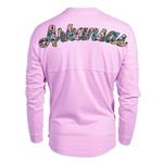 Venley Women's University of Arkansas Hawaiian Spirit Long Sleeve Football T-shirt - view number 1