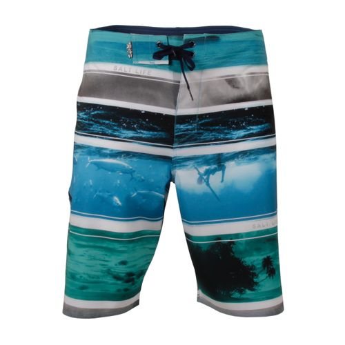 Salt Life Men's Across the Board Aqua Boardshort