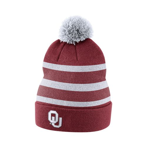 Nike Men's University of Oklahoma Sideline Cuffed Pom Beanie
