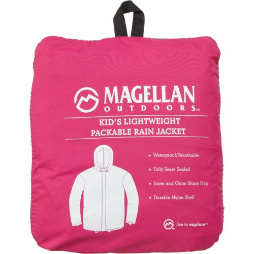Display product reviews for Magellan Outdoors Girls' Packable Rain Jacket