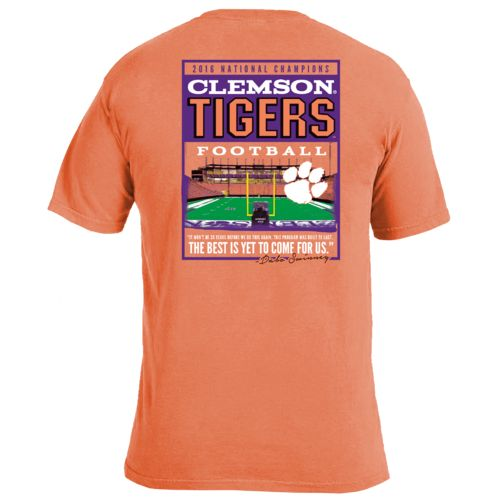 Image One Men's Clemson University Football Stadium Poster T-shirt