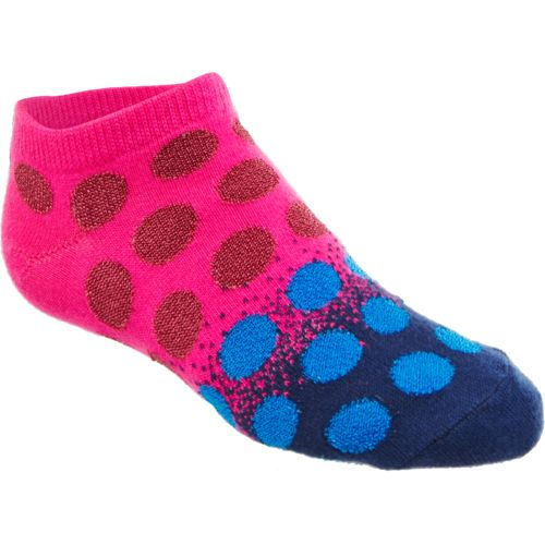 BCG Girls' Gradient Shiny Dot No-Show Socks 6 Pack