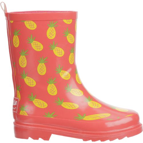 Austin Trading Co. Girls' Pineapple Rubber Boots