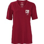 Three Squared Juniors' University of Alabama Team For Life Short Sleeve V-neck T-shirt - view number 2