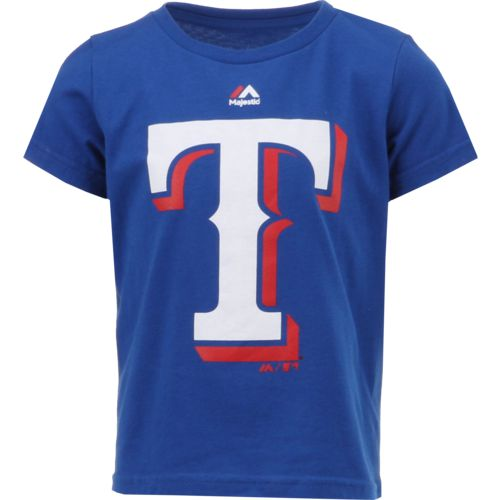 Majestic Toddlers' Texas Rangers Primary Logo Short Sleeve T-shirt
