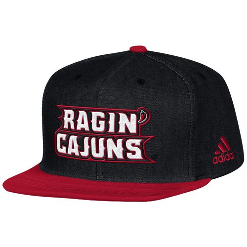 adidas Men's University of Louisiana at Lafayette Sideline Player Flat Brim Snapback 2-Tone Cap
