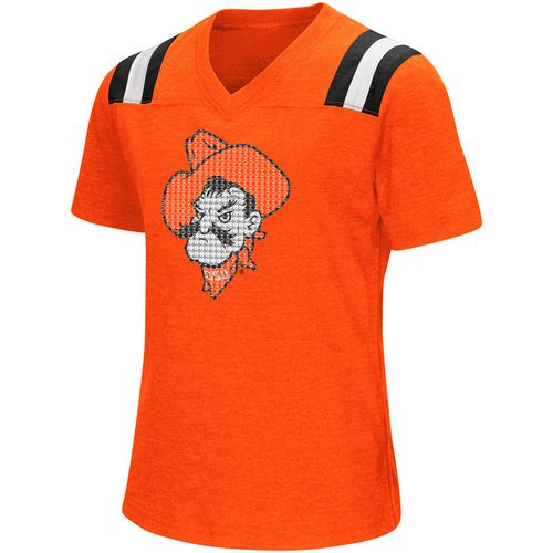 Colosseum Athletics Girls' Oklahoma State University Rugby Short Sleeve T-shirt