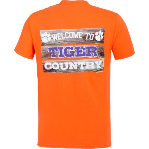 New World Graphics Men's Clemson University Welcome Sign T-shirt