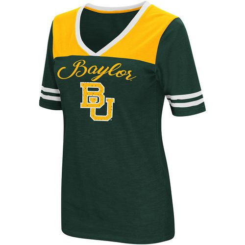 Colosseum Athletics Women's Baylor University Twist 2.1 V-Neck T-shirt
