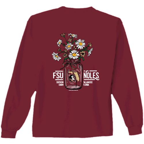 New World Graphics Women's Florida State University Bouquet Long Sleeve T-shirt