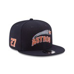 New Era Men's Houston Astros Jose Altuve 27 9FIFTY Snapback Tech Cap - view number 5