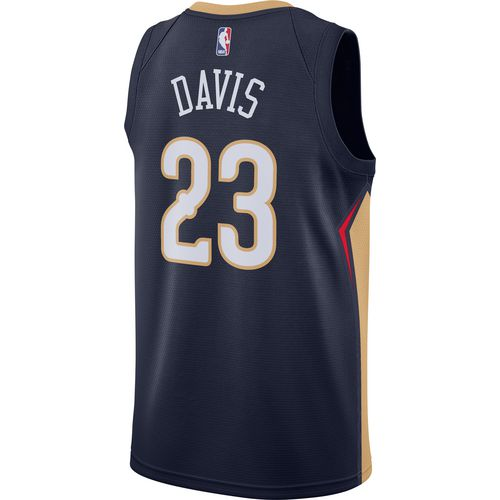 nike mens new orleans pelicans anthony davis icon edition swingman jersey