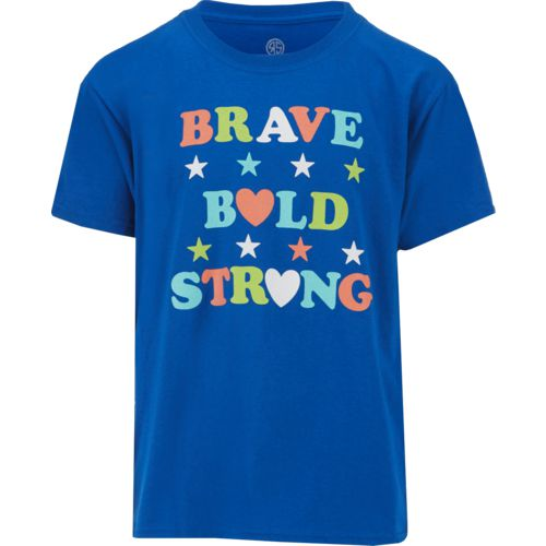 Raw State Girls' Brave Bold Strong T-shirt