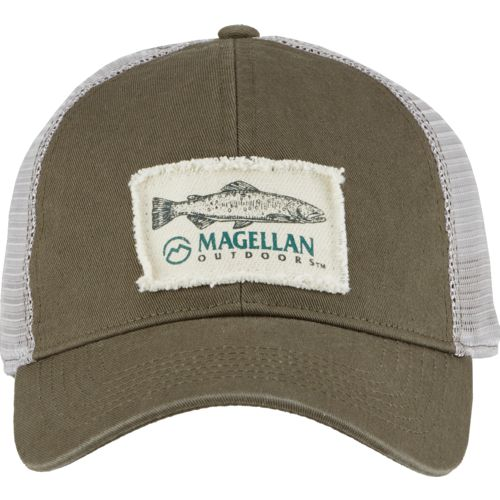 Magellan Outdoors Men's Scenic Bass Frayed Patch Trucker Cap