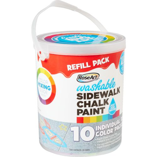 RoseArt Washable Sidewalk Chalk Paint Refill Bucket