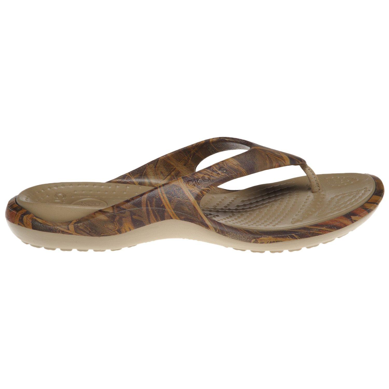 Crocs  Men s Realtree Max-4  Camo Baja Flip Flops