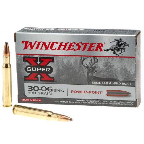 Image for Winchester Super-X® Power-Point® .30-06 Springfield 180-Grain Rifle Ammunition from Academy