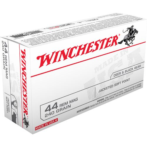 Winchester USA Jacketed Soft Point .44 Remington Magnum