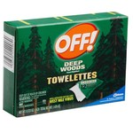 OFF! Deep Woods® Insect Repellent Towelettes 12-Pack