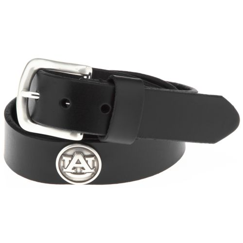 Enmon Men's Sideline Collection Auburn University Black Leather Belt