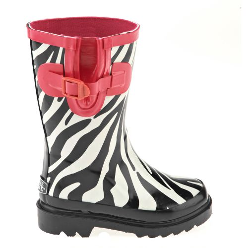Stone Creek™ Girls' Zebra Print Rubber Boots