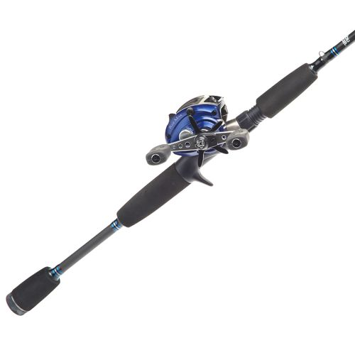 Abu Garcia® Blue Max™ Low Profile 6'6' Freshwater/Saltwater Baitcast Rod and Reel Combo