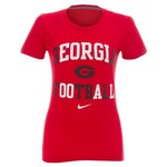 Nike Women's University of Georgia Gridiron Short Sleeve T-shirt