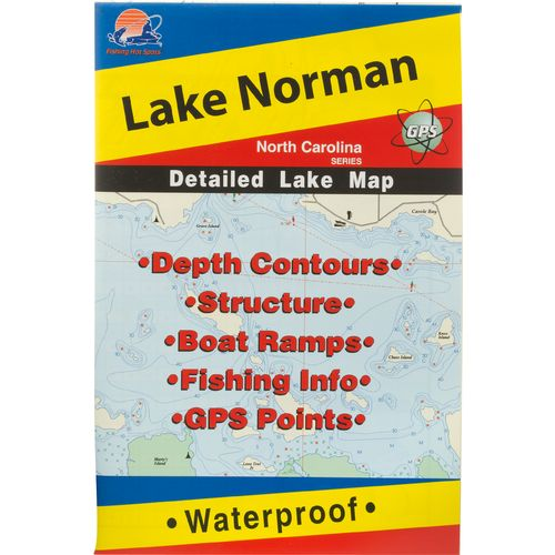 Fishing Hot Spots Lake Norman Fishing Map