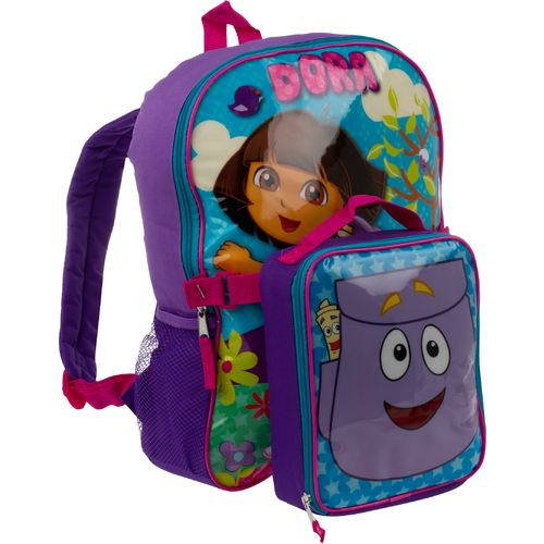"Image for Nickelodeon Kids' Dora the Explorer 16"" Back pack with Lunch Kit from Academy"