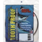 American Fishing Wire Tooth Proof 86 lb. - 30' Single-Strand Leader Wire