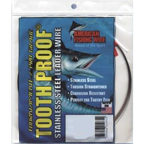 American Fishing Wire Tooth Proof 86 lbs - 30 ft Single-Strand Leader Wire