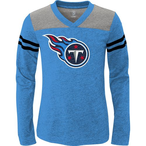 NFL Girls' Tennessee Titans V-Neck Heathered T-shirt