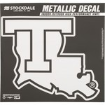 "Stockdale Louisiana Tech 6"" x 6"" Metallic Vinyl Die-Cut Decal"