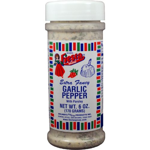 Display product reviews for Bolner Fiesta 6 oz. Extra-Fancy Garlic Pepper with Parsley Seasoning