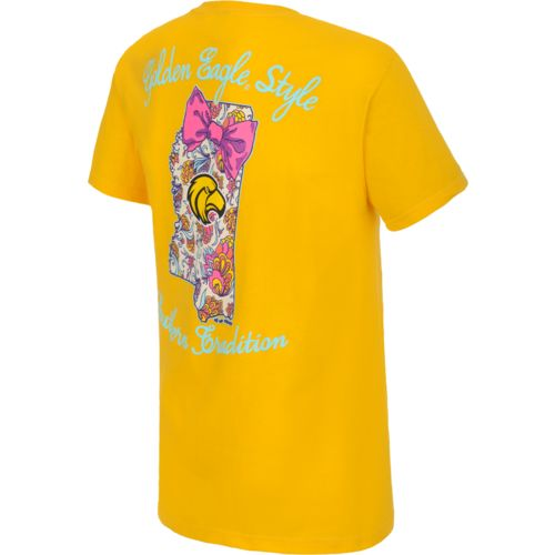 New World Graphics Women's University of Southern Mississippi Bright Bow T-shirt