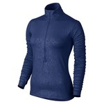 Nike Women's Pro Hyperwarm Embossed 1/2 Zip Pullover Top