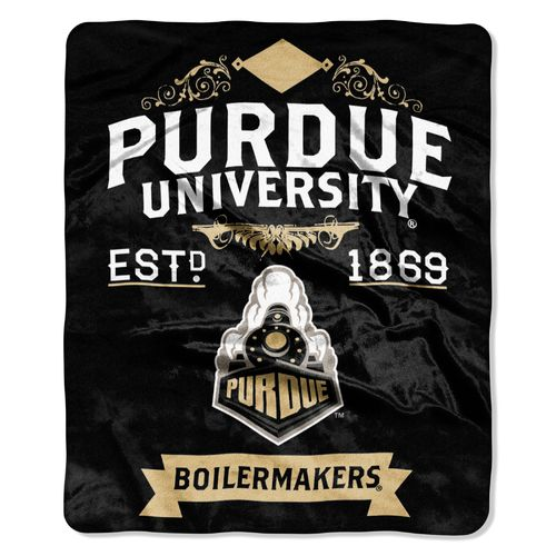 The Northwest Company Purdue University Label Raschel Throw