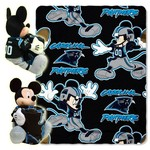 The Northwest Company Carolina Panthers Minnie Mouse Hugger and Fleece Throw Set - view number 1