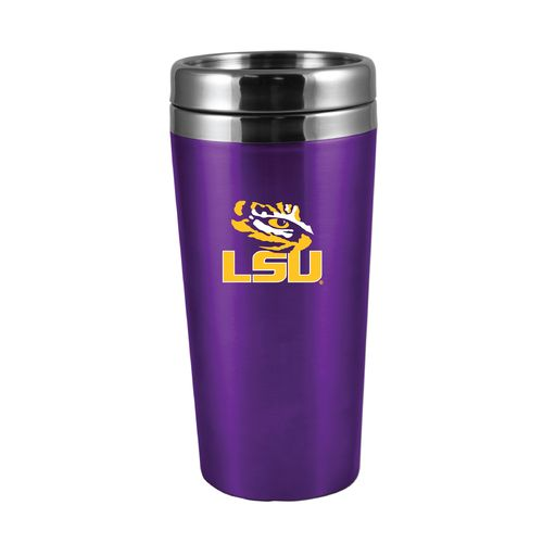 The Fanatic Group Louisiana State University 16 oz. Rubberized Stainless-Steel Tumbler