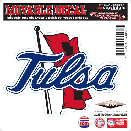 Stockdale University of Tulsa 6' x 6' Decal